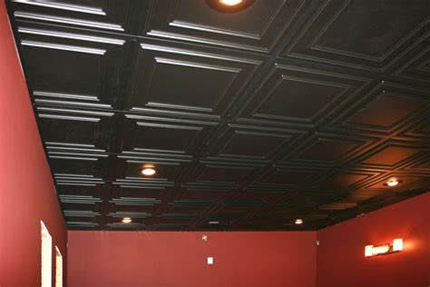 textured tech black drop ceiling tiles new basement and