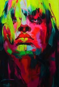 explosive colorful portraits paintings