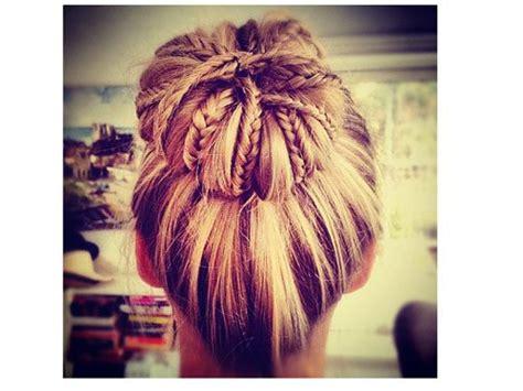 braided donut bun blond brades bun cute hair style image 570796 on