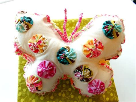 butterfly pillow stuffed ornament whimsical by itsewbella