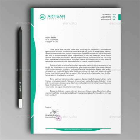 20 Letterhead Templates Mockups That Will Save You Time Letterhead Template