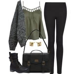 edgy hanna marin inspired with black leggings