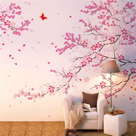 cherry blossom home decor large cherry blossom tree decal pink flower floral wall