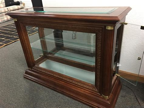 light wood curio cabinets lighted wood curio cabinet for sale classifieds