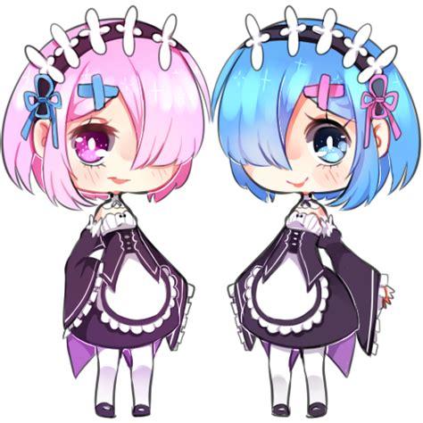 kaos rezero ram rem white re zero ram and rem by nelliette on deviantart