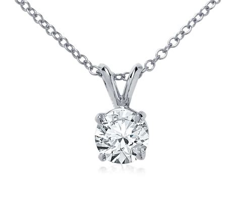 bail solitaire pendant setting in 18k white gold