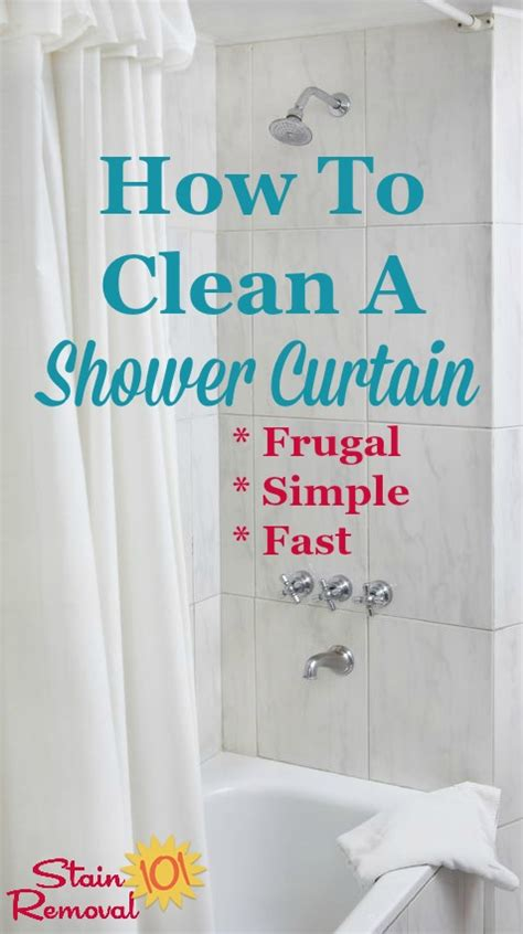 How To Clean Bathroom Shower How To Clean Shower Curtain