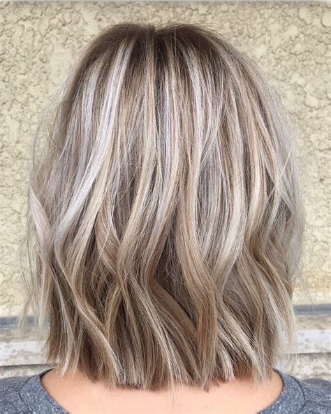 long bob low lights on silver hair trendy hair highlights 17 best ideas about cover gray