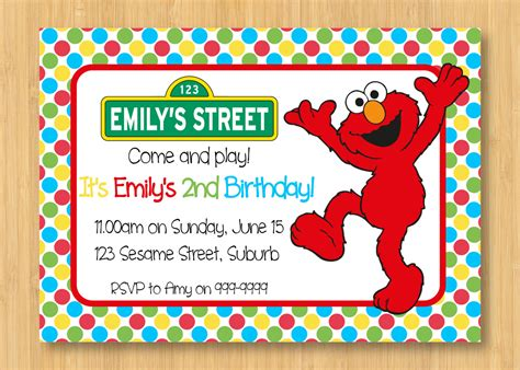 how to create elmo birthday party invitations templates