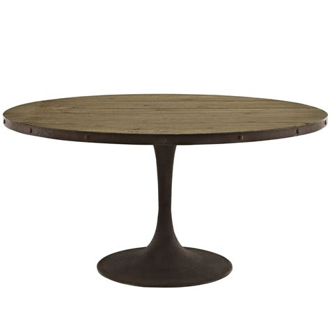 drive rustic 60 quot wood top dining table w iron