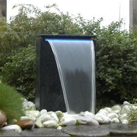 modern square waterfall self contained outdoor garden water feature with pump pinterest