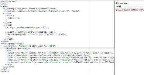 repository pattern angularjs angularjs phone number validation angular 6 5 4 and 2