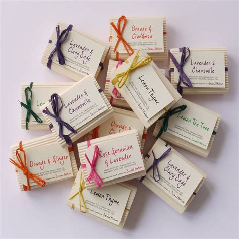 Handmade By - mini handmade guest soaps by second nature soaps