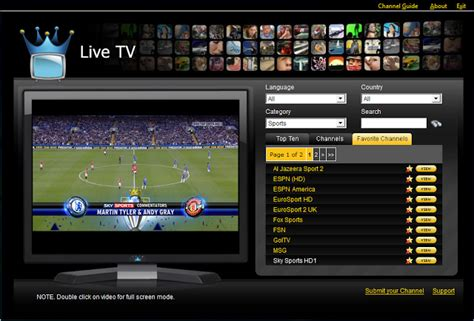 watch tv online and stream tv shows on pc xbox ipad ps3 live streaming all sports all over the world watch