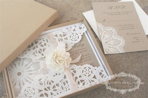 wedding invitation with lace 18 gorgeous rustic wedding invitations