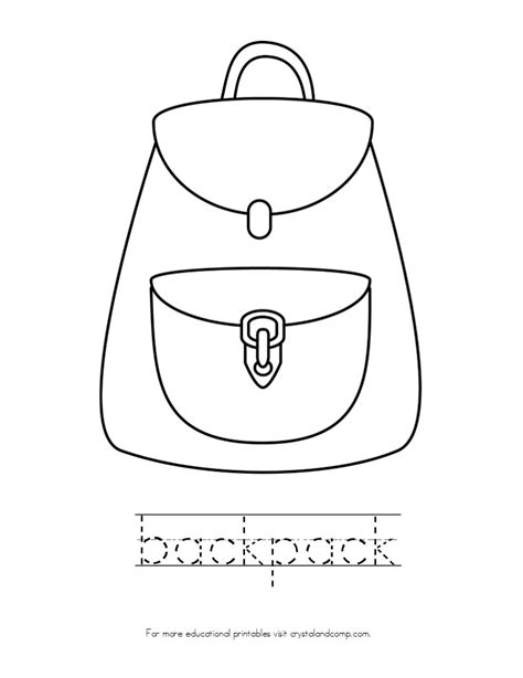 Backpack Printable Coloring Pages Backpack Coloring Pages