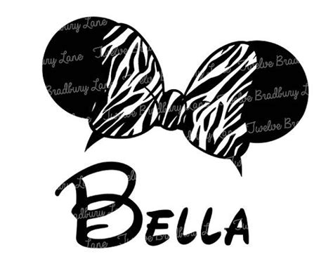 Printable Zebra Ears | zebra print minnie mouse ears printable iron design by