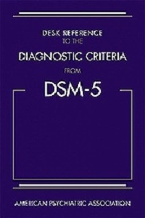 desk reference to the diagnostic criteria from dsm 5 81 50