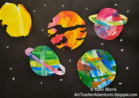 planet crafts for abstract planet collage family crafts