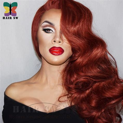 Jessica Rabbit Lace Front Invisible Part Wig Cosplay Drag