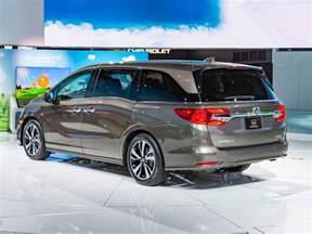 Blue Honda Odyssey 2018 Honda Odyssey Revealed Kelley Blue Book