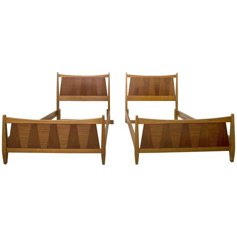 pair of mid century danish modern teak twin beds at 1stdibs