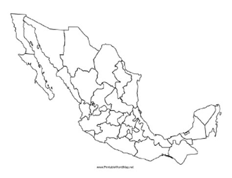 map of mexico printable blank map of mexico states
