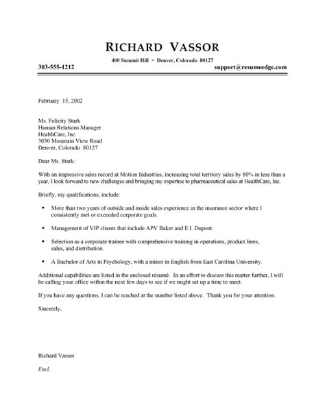 Sales Rep Cover Letter by Pharmaceutical Sales Representative Cover Letter