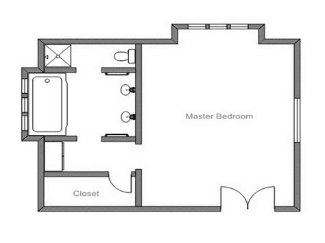 Simple Bathroom Floor Plans | planning ideas simple master bathroom floor plans