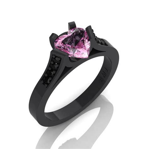 gorgeous 14k black gold 1 0 ct light pink sapphire