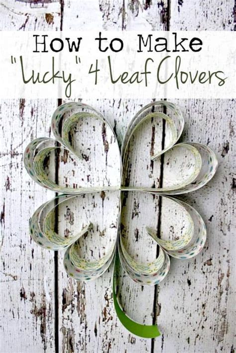 How To Make Paper Lucky - st s day home decor 14 crafts and printables