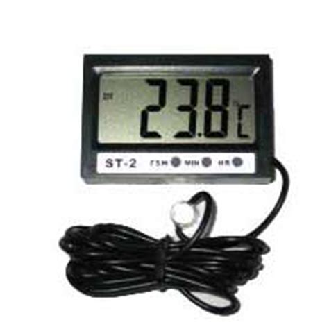 Thermometer Digital St2 digital aquatic in out reading thermometer with clock