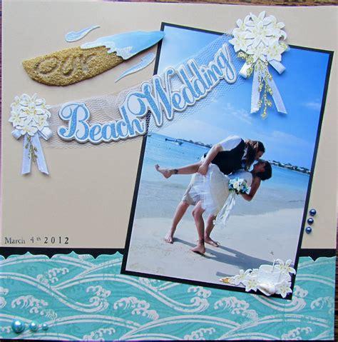 scrapbook layout beach jamaica wedding 1 scrapbook com scrapbooking