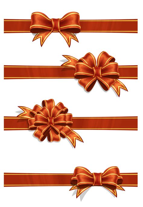 red ribbons psd file art background birthday bow