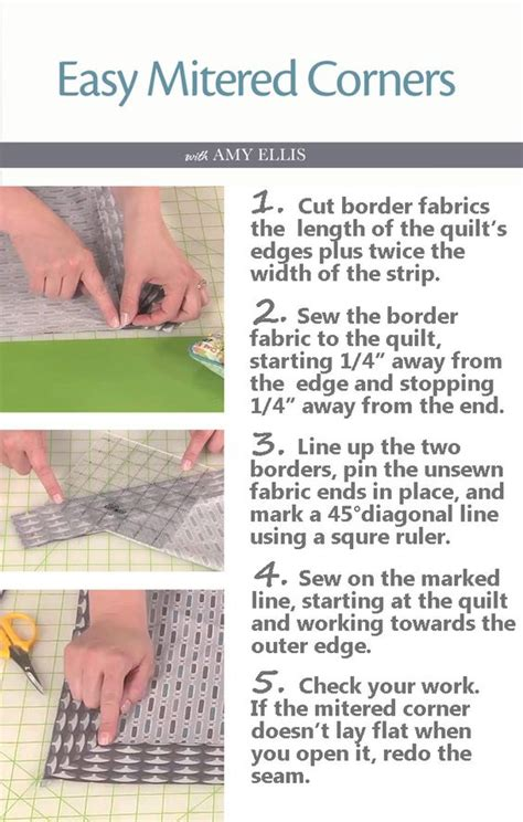 How To Quilt Corners by Mitered Corners Sewing And Quilt Border On