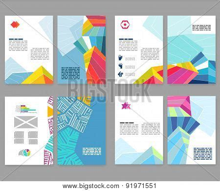 layout features of a leaflet flyer leaflet booklet layout set vector photo bigstock