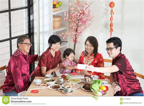 new year family reunion dinner selfie during new year reunion dinner stock photo