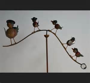 mobile oiseaux m 233 tal trait 233 fer forg 233 d 233 coration de jardin