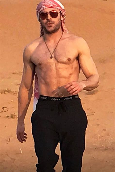 zac efron es actor zac efron flaunts his abs on a camel