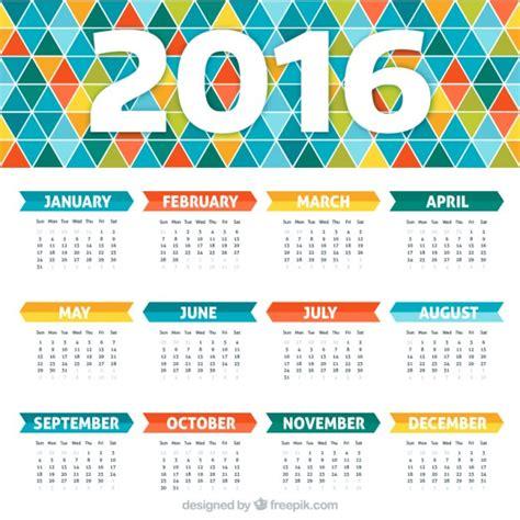 Calendario Vetor Colorful Calendar With Geometric Design Vector Premium