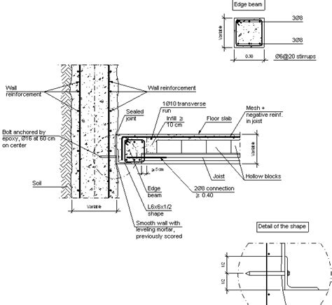 Floor Plans With Basements construction details cype ccp206 intermediate interface