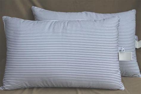 pillow ticking bedding pair of ticking stripe white down pillows 90s vintage