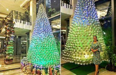 cara membuat pohon natal dari barang daur ulang pohon natal berbahan daur ulang botol plastik tertinggi di