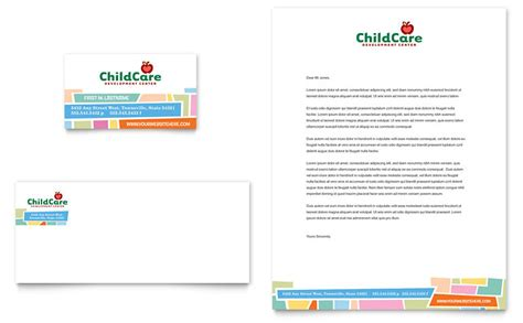 caign cards template preschool day care business card letterhead