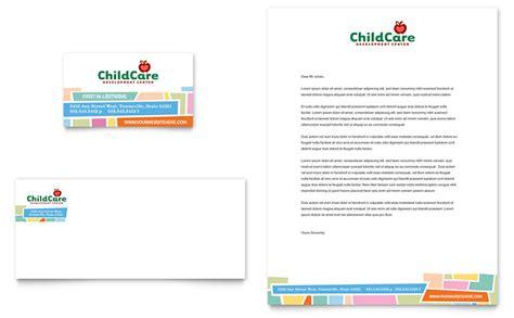 caign cards template preschool day care business card letterhead