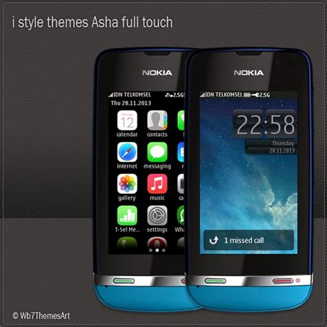 themes nokia asha i style theme for nokia asha full touch free asha 305
