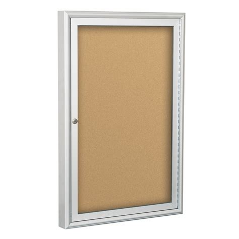 dry erase board cabinet outdoor enclosed bulletin board cabinet silver trim