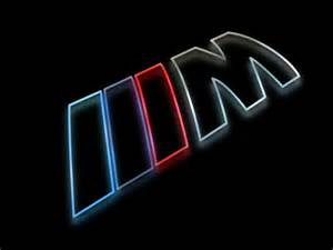 bmw m logo as a colorful silhouette rendering with a glow