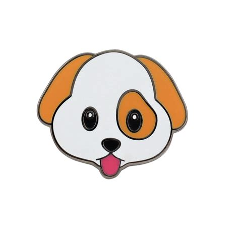 cute puppy emoji enamel pin   life real sic