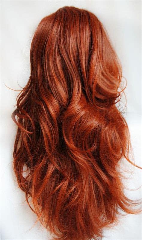auburn copper hair color auburn wig red wig curly red wig scene wig auburn